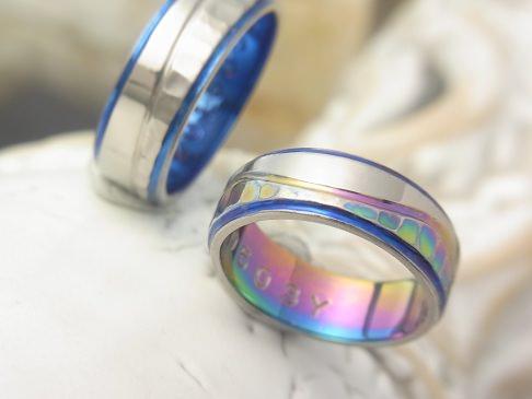 フィレンツェ マーブル チタン 結婚指輪