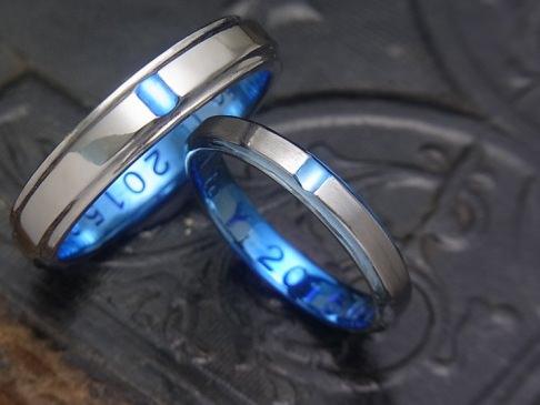 サイドライン チタン結婚指輪