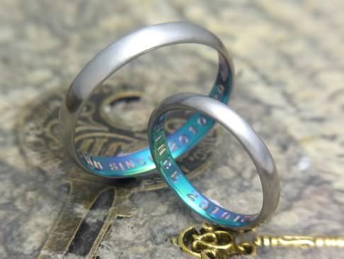 甲丸つや消し結婚指輪